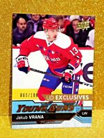 2016-17 JAKUB VRANA Young Guns Exclusives /100 Rookie Clean Centered Sharp 520
