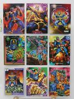 Marvel Trading Card THANOS Villain Lot of 9 Vintage Comic Trading Cards HTF