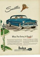 1952 DODGE Blue CORONET 2-door Coupe ram art Vintage Ad