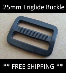 25mm Plastic Tri-Glide Buckle Triglide Webbing Strapping Adjuster Strap Slider