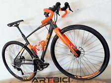 Bici Gravel Shimano GRX 2x11 Telaio Alluminio Forcella Carbonio Ruote Cuscinetti