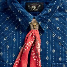 Double Rl Rrl Brass Bandana Slider Longhorn Design