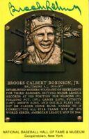 Brooks Robinson autographed signed Hall of Fame HOF plaque postcard card JSA SOA