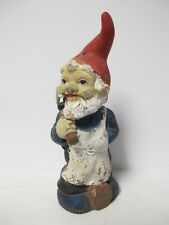 "Vintage Zeho 1992 Garden Gnome Chopping Wood ~ West Germany 11½"" tall"