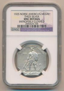 1925 Norse American Medal Commemorative Half Dollar. NGC Unc Details