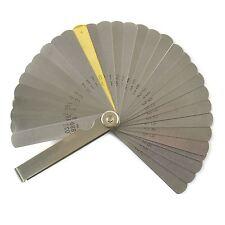 Fühlerlehre 32 Blatt Metrisch und Zöllig Stößel Abstand messen Zündkerze TE918
