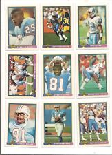 1991 Bowman Houston Oilers Football Card Team Set (20 Different)
