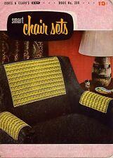 Coats Clark 309 Smart Chair Sets Crochet Patterns Butterfly Reindeer Flower 1954