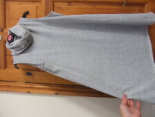 GEORGE size 18 grey marl loose flared DRESS wear over pants? cowl neck sleeveles