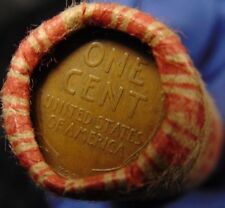SEALED BANK Wheat Penny Roll capped with 1909 VDB S? Wheat Cent #e2