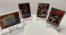 Tee Higgins 2020 Rookie Lot of 4 Cards. Elements Auto, Prizm, And Optic