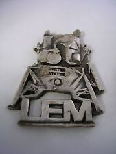 LUNAR MODULE (LEM) TIE TAC COLLAR PIN ALL HIGH POLISHED IN STERLING SILVER