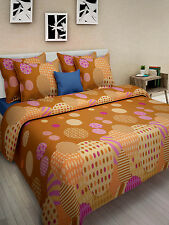 Homefabs 100% Cotton Double Bed Sheet with 2 Pillow Covers (DBS123)