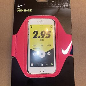 New Nike Lean Running Phone Arm Band Pink Unisex Fits Most Smartphones