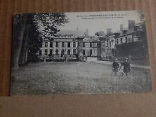 Postcard WW1 Chateau Du Cauroy Divisional Headquarters Soldier Message on Back