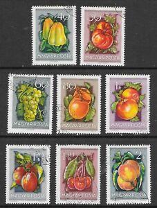 FRUIT SET HUNGARY SG 1377-84 C.T.O. 1954