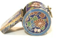 Vintage Cloisonne Enamel Whistle Pendant Necklace