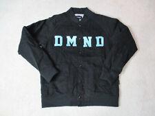 Diamond Supply Company Jacket Adult Large Black Green Streetwear Coat Mens