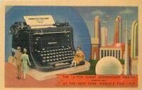 Colorpicture Giant Underwood Master Typewriter New York World's Fair 11259