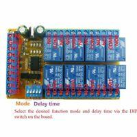 8ch Delay Relay Module Latch Bistable Self-locking Interlock Power Conditioner