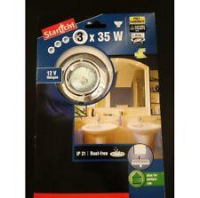 Set di 3 alogena faretto da incasso + 12V trasformatore a bagno argento soffitto