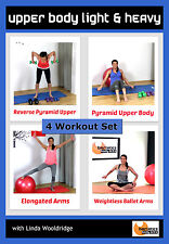 Weights and Toning DVD Barlates Body Blitz UPPER BODY LIGHT & HEAVY 4 Workouts