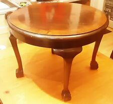 1920s Coffee Table Antique Ball and Claw  legged Vintage Side Table