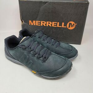Merrell Mens Parkway Emboss Trainers Shoes Full Grain Leather Black Size 10.5