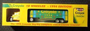 "1994 CRAYOLA 18 Wheeler MIB C-6.5 13"" Big Rig w/ 8 Crayons"
