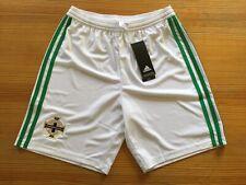 ADIDAS NORTHERN IRELAND FOOTBALL SOCCER SHORTS IFA WHITE GREEN BOYS 11 12 152