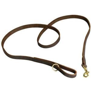 Leather Dog Leash Walking Training Lead 5FT Long Handmade Lead Floating Ring New