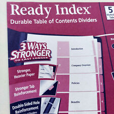 Avery Ready Index Durable Table Of Contents Dividers 11167 24 Sets 5 Tabsnos