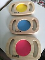 Easy Wood Colour Panels Red Yelow Blue