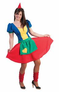 Zwergen-Kostüm Damen Zwergen-Kleid Zwerg Kostüm Damen-Kostüm Zwergen-Mütze KK