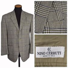 Nino Cerutti Mens Blazer size 40R Slim Prince of Wales LambsWool Plaid Gr 50