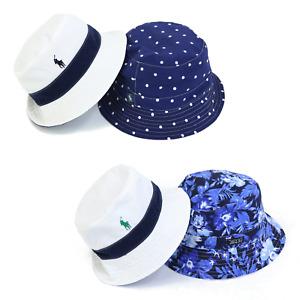 Polo Ralph Lauren Safari Bucket Hat Cap - Floral Aloha Polka Dot -- 2 colors --
