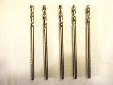 Drill Bits, #26 Cobalt, USA, Chicago Latrobe, 5 Drill Bit Lot, New/Other