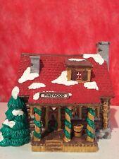 "Dept 56 Original Snow Village ""Pinewood Log Cabin� Retired mint in condition"