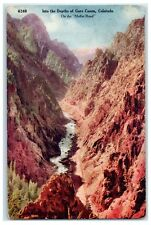 1910 In the Depths of Gore Canyon, on Moffat Road, Colorado Postcard
