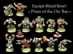 Equipe d'Orcs, orcs pirates, Blood Bowl, Football américains Fantasy