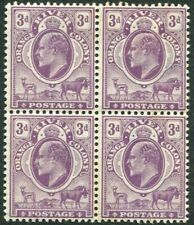 ORANGE RIVER COLONY-1903 3d Mauve Mint Block of 4 (3 Unmounted) Sg 143