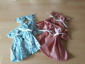1.12th Dolls House CURTAINS. SET OF FOUR ON WOODEN POLES. EXCELLENT CONDITION .