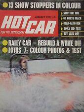 Hot Car magazine 01/1971 featuring Lotus Seven test, Simca