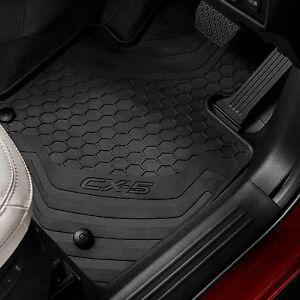 Mazda CX5 KF R Floor Rubber Mats, protect original carpet - Genuine KF11ACFMR