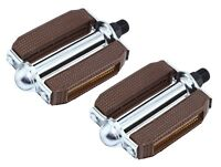 "NEW! Original Brown Bicycle Block Pedals 9/16""  BMX Beach  Cruiser Bike Pedal"