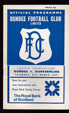 Dundee FC v Dunfermline  Football Programme March 27 1971
