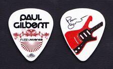 Paul Gilbert Signature White Guitar Pick - 2011 Fuzz Universe Tour Mr. Big