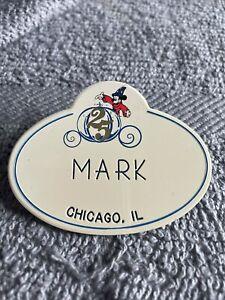 Vintage Walt DIsney World 25th Anniversary Cast Member Name Tag Badge Pin Mark