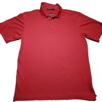 Nike Dri Fit Tiger Woods Collection Mens Red Short Sleeve Golf Polo Shirt Size M