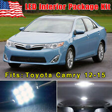 15PCS Pure White LED Interior SMD Package Deal For 2012-2015 Toyota Camry + Gift